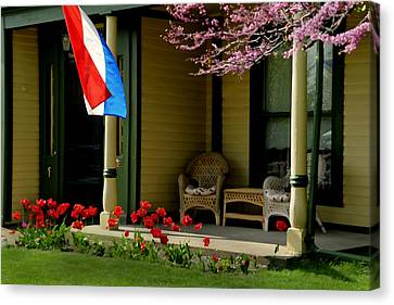 Front Porch Canvas Print by Lyle  Huisken