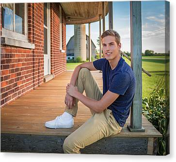 Canvas Print featuring the photograph Front Porch Portrait by Bill Pevlor