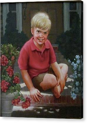 Front Porch Portrait Canvas Print