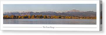 Front Range With Peak Labels Canvas Print by Aaron Spong