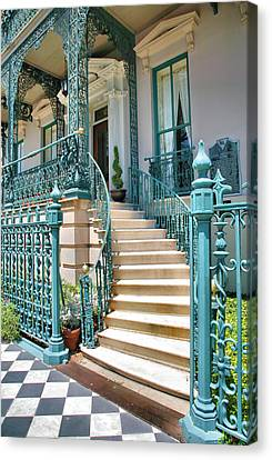 Front Steps To John Rutledge Home Canvas Print by Steven Ainsworth