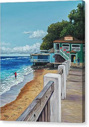 Canvas Print featuring the painting Front Street Lahaina by Darice Machel McGuire