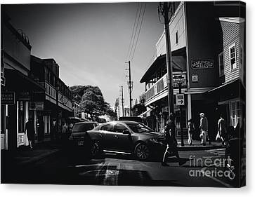 Canvas Print featuring the photograph Front Street  by Sharon Mau