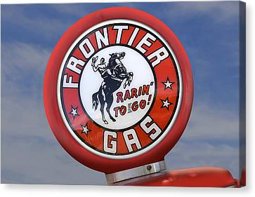 Frontier Gas Globe Canvas Print by Mike McGlothlen