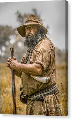 French And Indian War Canvas Print - Frontiersman Portrait by Randy Steele