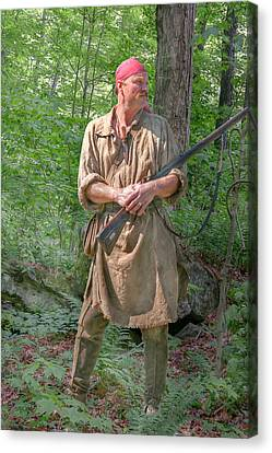 Frontiersman Scout    Canvas Print by Randy Steele