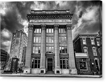 Downtown Nashville Canvas Print - Frost Building - Lifeway Christian Resources by Stephen Stookey