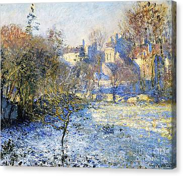 Winter Landscapes Canvas Print - Frost by Claude Monet
