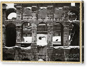 Frosted Colosseum In Rome Canvas Print by Stefano Senise