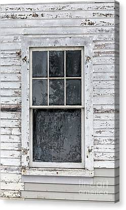 Abandoned Homes Canvas Print - Frosted Window On An Old House by Edward Fielding