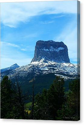 Frosty Chief Mountain Canvas Print