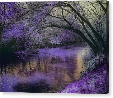 Frosty Lilac Wilderness Canvas Print by Michele Carter