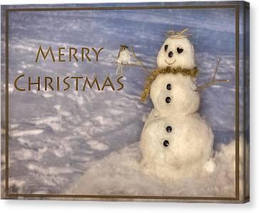 Frosty Merry Christmas Canvas Print by Lori Deiter