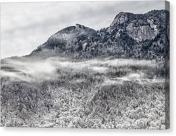 Snowy Grandfather Mountain - Blue Ridge Parkway Canvas Print