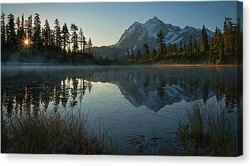 Canvas Print featuring the photograph Frosty Picture Lake by Dan Mihai