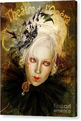 Theatre Canvas Print - Frou Frou Lopera by Shanina Conway
