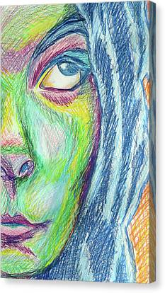 Canvas Print featuring the mixed media Froud Self by Sarah Crumpler