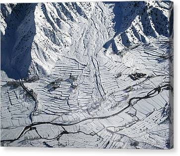 Frozen Afghan Village Canvas Print by David M Porter