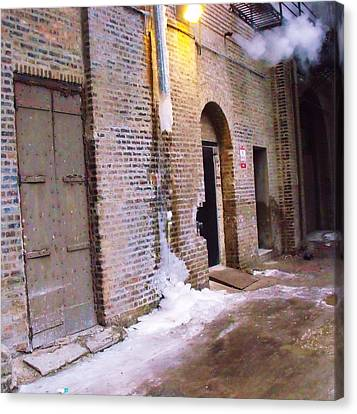 Frozen Alley Canvas Print