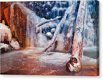 Frozen Avalon Fantasy Falls Canvas Print