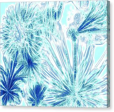 Frozen Blue Ice Canvas Print by Methune Hively