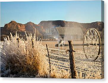 Frozen Blue Skies Canvas Print