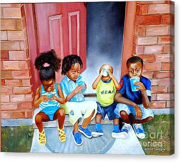 Frozen Cups Canvas Print