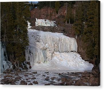 Frozen Falls Canvas Print by Ron Read