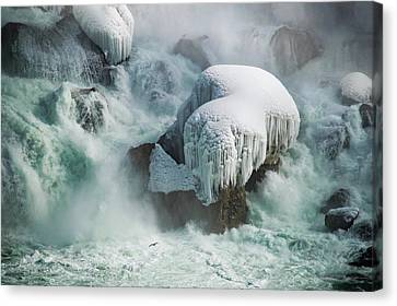 Tracy Munson Canvas Print - Frozen Falls by Tracy Munson