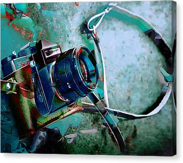 Camera Canvas Print - Frozen In Time Camera Collection by Marvin Blaine