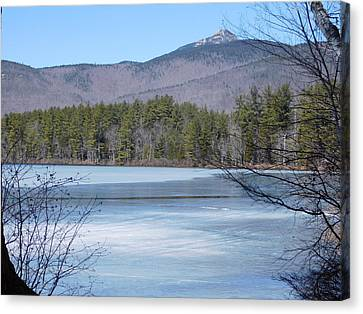 Frozen Lake Chocorua Canvas Print by Catherine Gagne