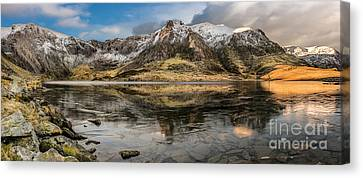 Cwm Idwal Canvas Print - Frozen Lake Idwal by Adrian Evans