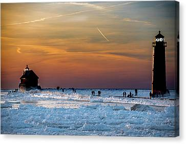 Frozen Lighthouse Canvas Print