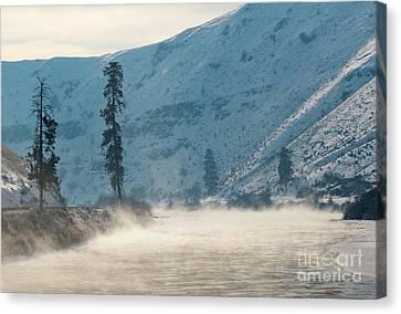 Frozen Mist Rising Canvas Print by Mike Dawson