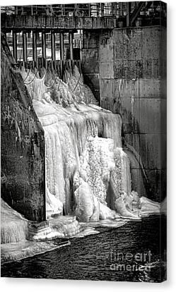 Canvas Print featuring the photograph Frozen Power by Olivier Le Queinec