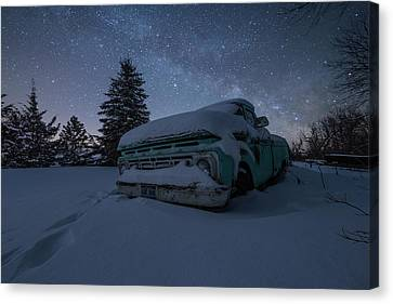 Canvas Print featuring the photograph Frozen Rust  by Aaron J Groen