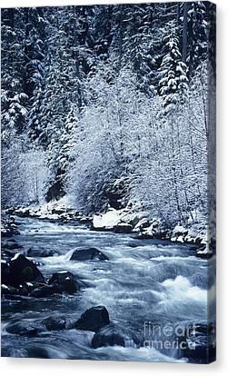 Frozen Salt Creek Canvas Print by Greg Vaughn - Printscapes
