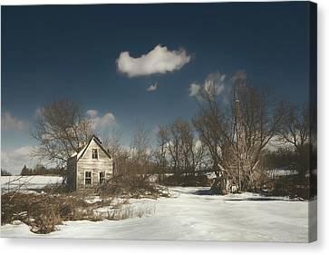 Abandoned Homes Canvas Print - Frozen Stillness by Scott Norris