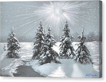 Frozen Sunshine Canvas Print
