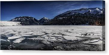 Canvas Print featuring the photograph Frozen Wallowa Lake by Cat Connor