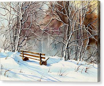 Frozen  View Canvas Print by Art Scholz