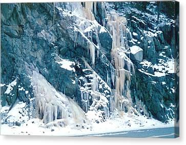 Frozen Waterfall Canvas Print by Judyann Matthews