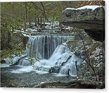 Frozen Waterfalls Canvas Print by Robert Pilkington