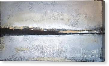Abstract Landscape Canvas Print - Frozen Winter Lake by Vesna Antic