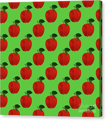 Fruit 02_apple_pattern Canvas Print
