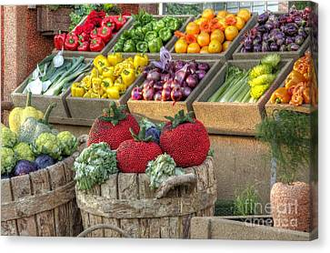Fruit And Veggie Display Canvas Print