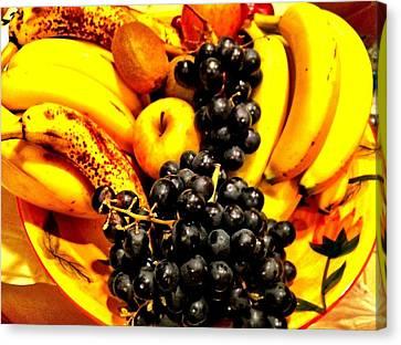 Fruit Basket Canvas Print by Carlos Avila