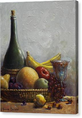 Fruit Basket Canvas Print by Harvie Brown