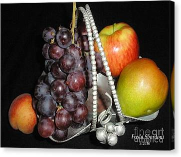 Fruit Basket II Canvas Print by Freda Sbordoni