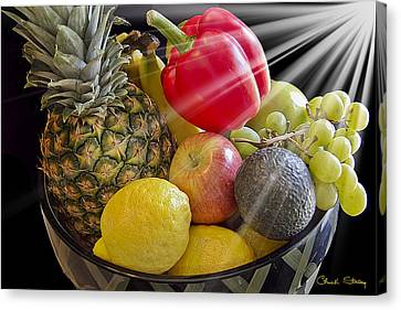Fruit Bowl Canvas Print by Chuck Staley